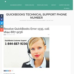 Resolve QuickBooks Error 1335 call 1844-887-9236