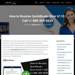 How to Resolve QuickBooks Error 6110