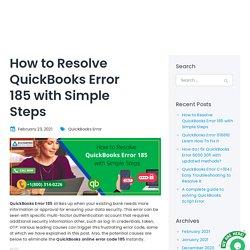 How To Fix QuickBooks Error code 185