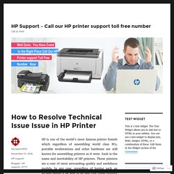 How to Resolve Technical Issue Issue in HP Printer – HP Support