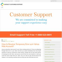 How to Resolve Temporary Error 14 in Yahoo Mail Account?