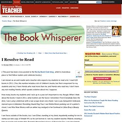 I Resolve to Read - The Book Whisperer