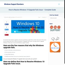 How to Resolve Windows 10 Upgrade Fails Issue - Complete Guide