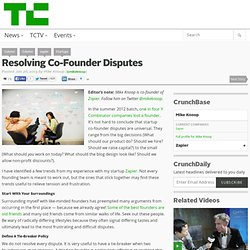 Resolving Co-Founder Disputes