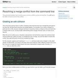Resolving a merge conflict from the command line