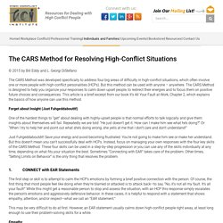 The CARS Method for Resolving High-Conflict Situations - High Conflict Institute
