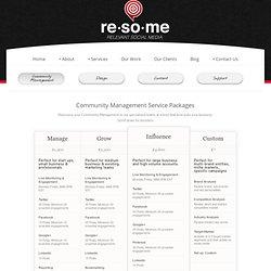 Relevant Social Media Pricing » ReSoMe