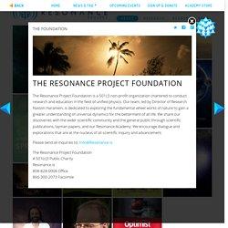 (Fundacion I+D...) The Resonance Project Foundation
