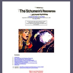 The Schumann's Resonances and Human Psychobiology - extended version
