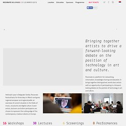2013 – Belgrade New Media Festival