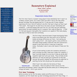 Resonators Explained, by Paul Kucharski