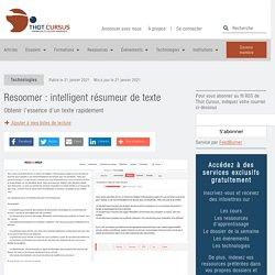 Resoomer : intelligent résumeur de texte