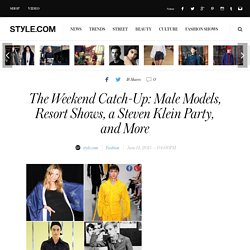 Resort 2016, Men's Fashion Week, Colin Farrell - Style.com Week in Review