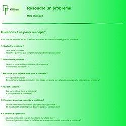 Résoudre un problème - Marc Thiébaud