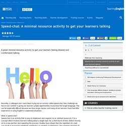 Speed-chat: A minimal resource activity to get your learners talking