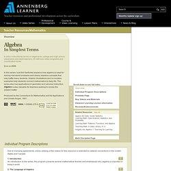 Algebra: In Simplest Terms