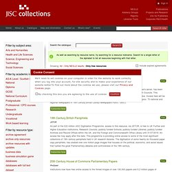 Resource Catalogue - Jisc Collections