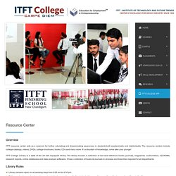 Resource Center — ITFT College