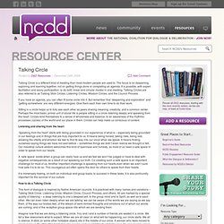 Resource Center » Talking Circle