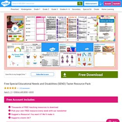 Resource for children with disabilities - SEND - Taster Pack