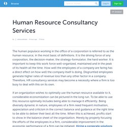 Human Resource Consultancy Services