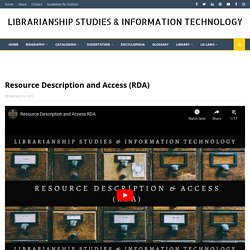 Resource Description and Access (RDA)