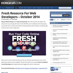 Fresh Resource for Web Developers – October 2014
