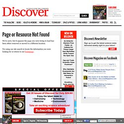 Biology, Evolution and More Human Origins News | Discover Magazi