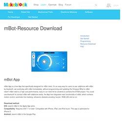 mBot-Resource Download – Makeblock Academy