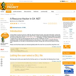 A Resource Hacker in C# .NET