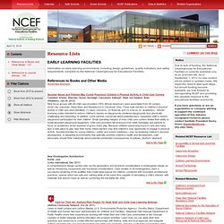 Resource List: Early Learning Facilities