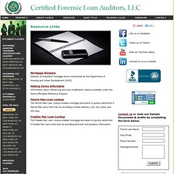 Forensic Audit Resources | Mortgage Audit | Loan Audit