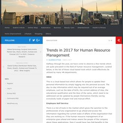 Trends in 2017 for Human Resource Management
