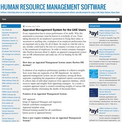 HUMAN RESOURCE MANAGEMENT SOFTWARE : Appraisal Management System for the UAE Users