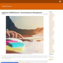 Apply for a PGDM Course - Human Resource Management