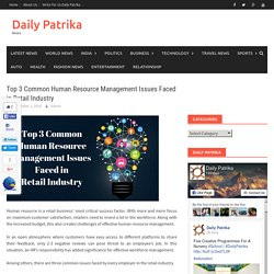 Top 3 Common Human Resource Management Issues Faced in Retail Industry