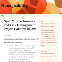 Open Source Resource and Task Management Projects written in Java