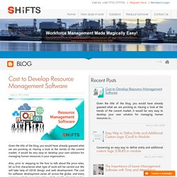 Cost to Develop Resource Management Software