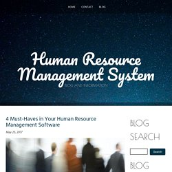 4 Must-Haves in Your Human Resource Management Software