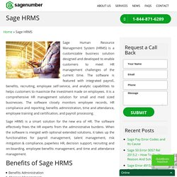 Sage Human Resource Management System - Sage Support 1-844-871-6289