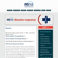 MNA: Disaster Response