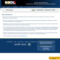 Search | NSDL.org - National Science Digital Library