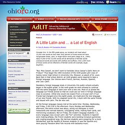 Ohio Resource Center > AdLIT > In Perspective Magazine > A Little Latin and . . . a Lot of English