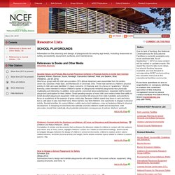 NCEF Resource List: School Playgrounds