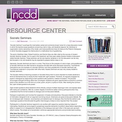 Resource Center » Socratic Seminars