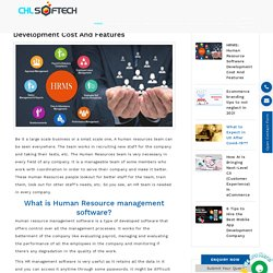 HRMS: Human Resource Software Development Cost And Features