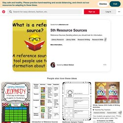 Library reference, Library skills, Library lesson plans