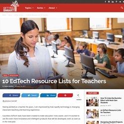 10 EdTech Resource Lists for Teachers