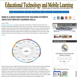 Here Is A Great Resource for Teaching Students about 21st Century Learning Skills