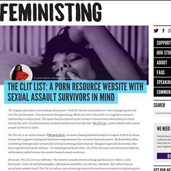 A Porn Resource Website w/Sexual Assault Survivors in Mind